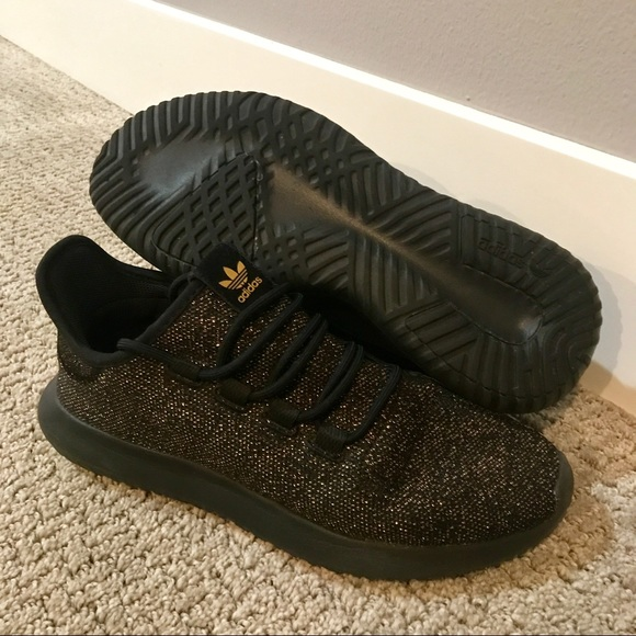 Adidas Tubular Shadow Knit mens gold shoes